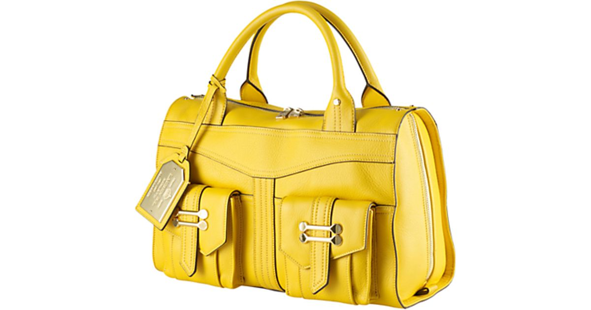 afdc3f754b ... inexpensive lauren by ralph lauren lauren by ralph lauren bermondsey  satchel handbag yellow in yellow lyst