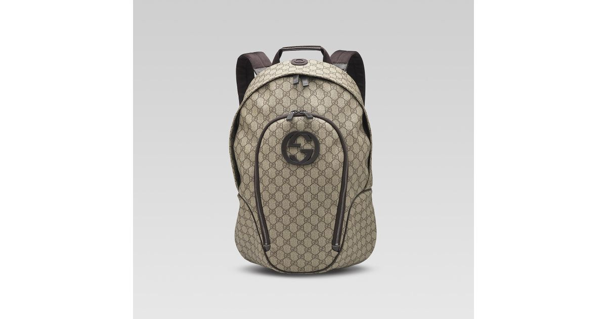 14c6b938d10f6b Gucci Interlocking G Backpack in Gray for Men - Lyst