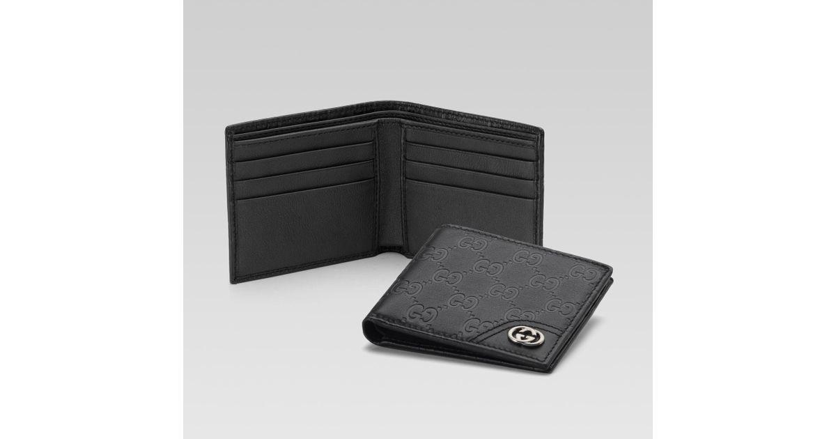 e0eb90e0552 Lyst Gucci Interlocking G Bifold Wallet In Black For Men. Gucci Original Gg  Canvas Bifold Wallet Nextprev Prevnext