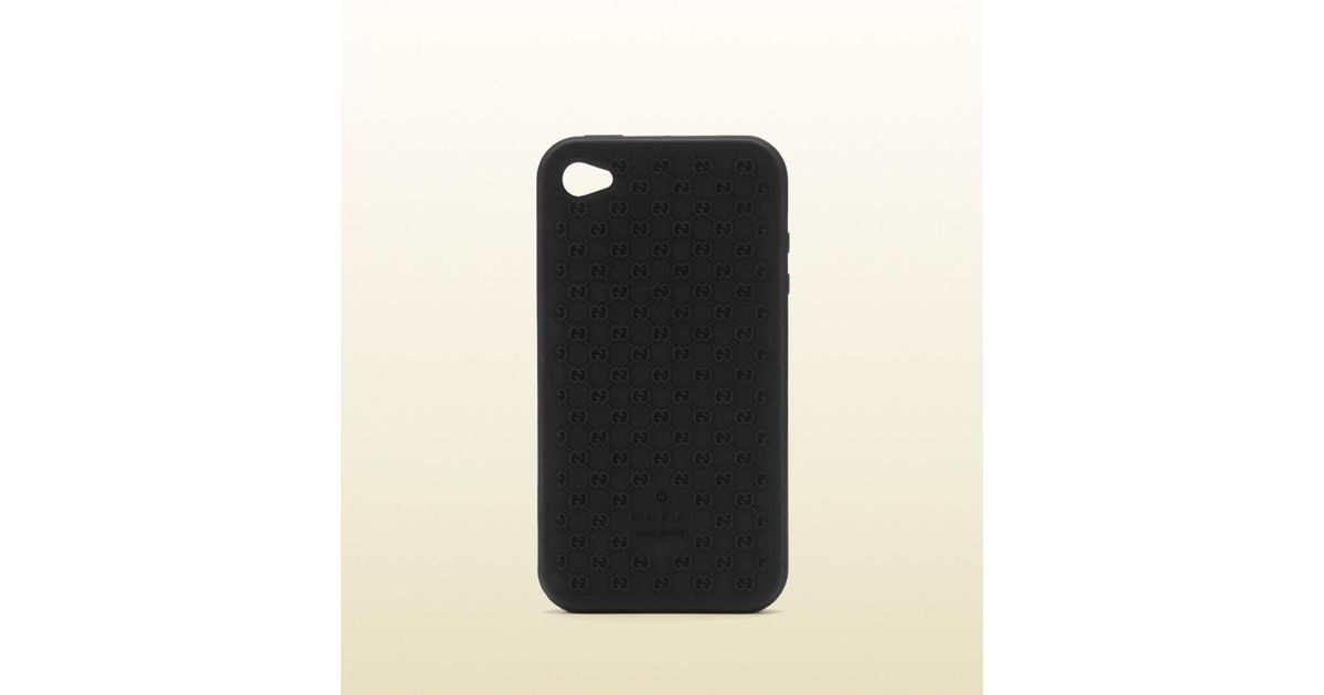 01630d90f Gucci Iphone 4 Case in Black - Lyst