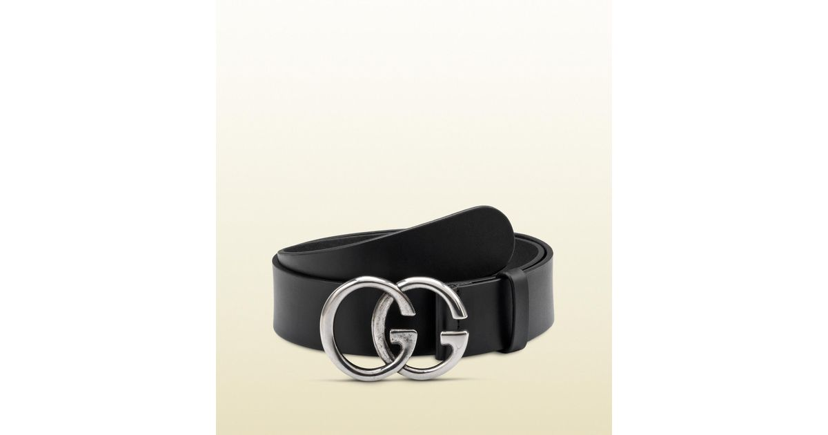434603774251a Lyst - Gucci Belt With Double G Buckle in Black for Men