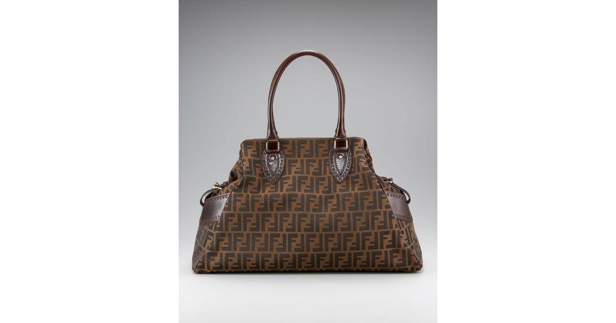 b615713ede5 Lyst - Fendi Zucca Bag De Jour in Brown