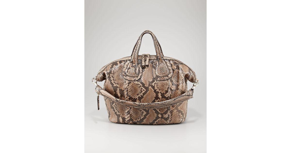 57535b0ad6 Givenchy - Multicolor Nightingale Python Satchel Medium - Lyst