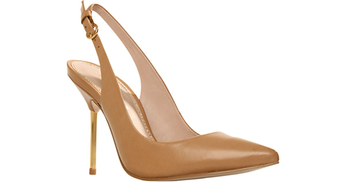 dc7e9458e3a KG by Kurt Geiger Kg Kurt Geiger Dahlia Slingback Suede Court Shoes Tan in  Brown - Lyst