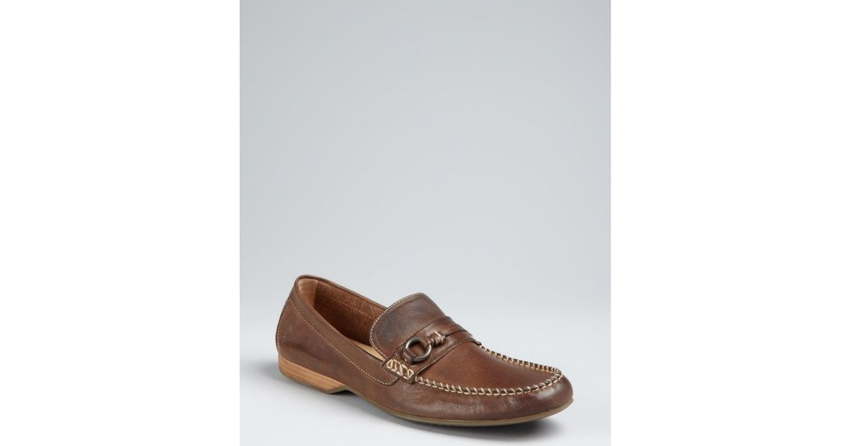 A.TESTONIPenny Slip-On Leather Loafers