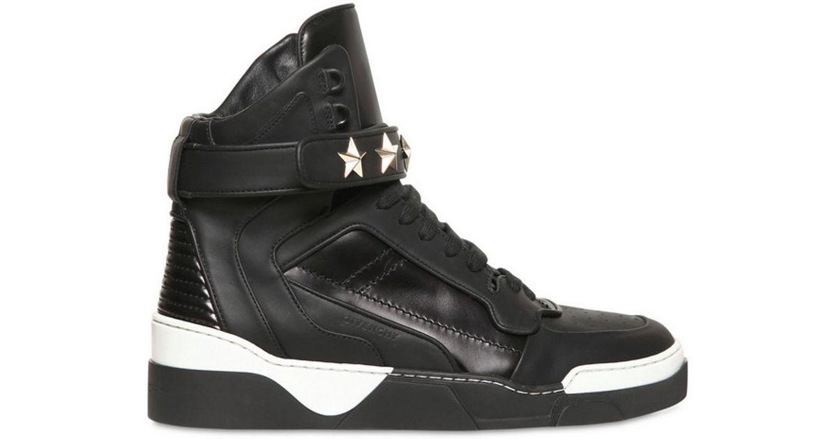 Sneakers Mid Stars leather black rivets Givenchy BPoKgC9o