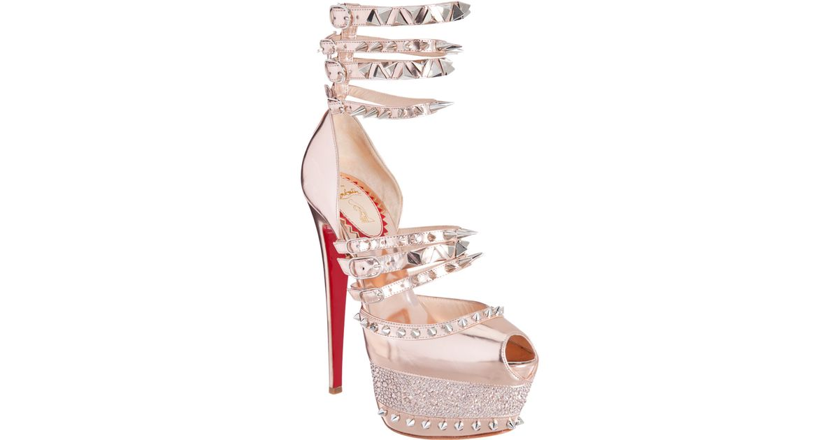 57c96742261 Christian Louboutin Isolde Sandals in Metallic - Lyst