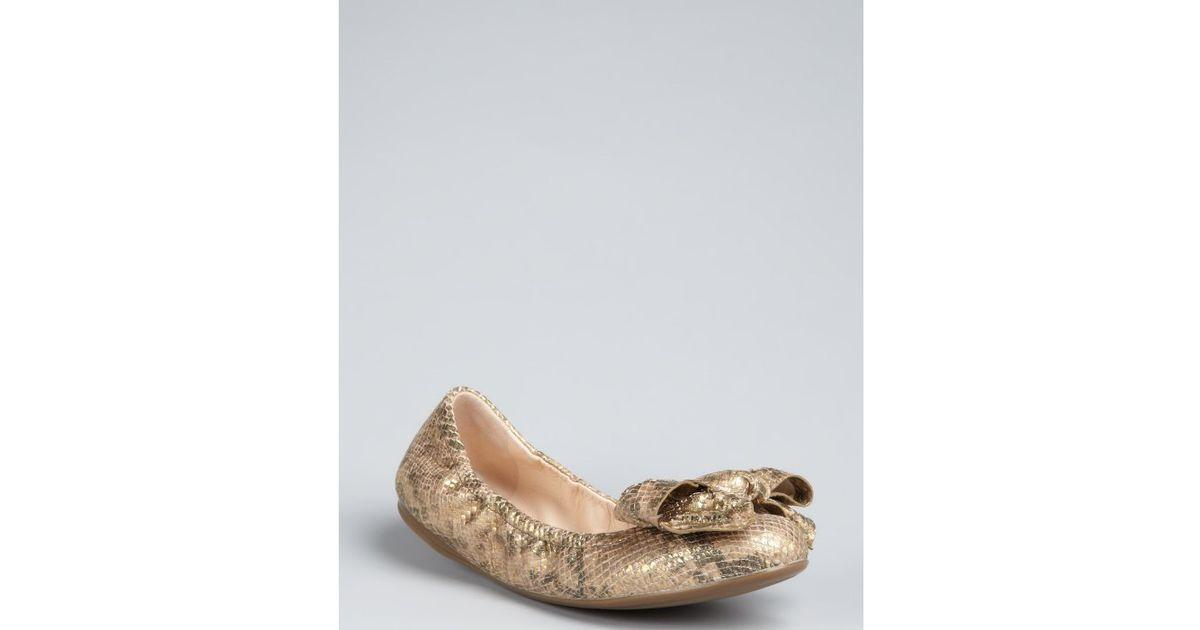 the cheapest cheap price Prada Snakeskin Ballet Flats sale fashionable original for sale view cheap online VpgjKt