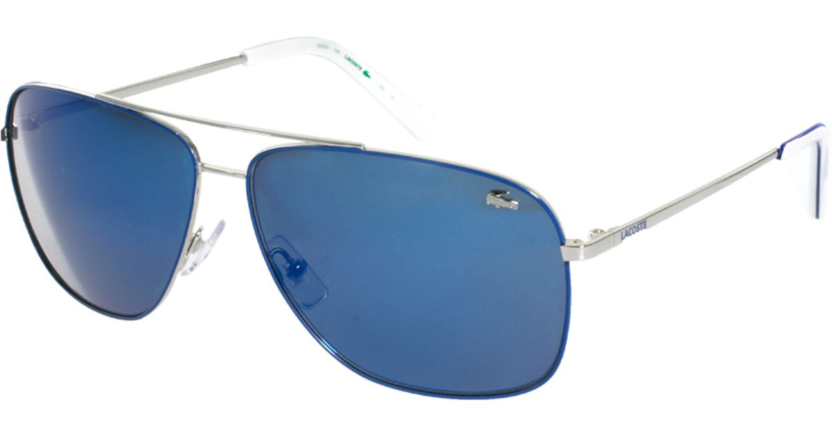 a953cf6c5b Lyst - Lacoste Aviator Sunglasses in Blue for Men