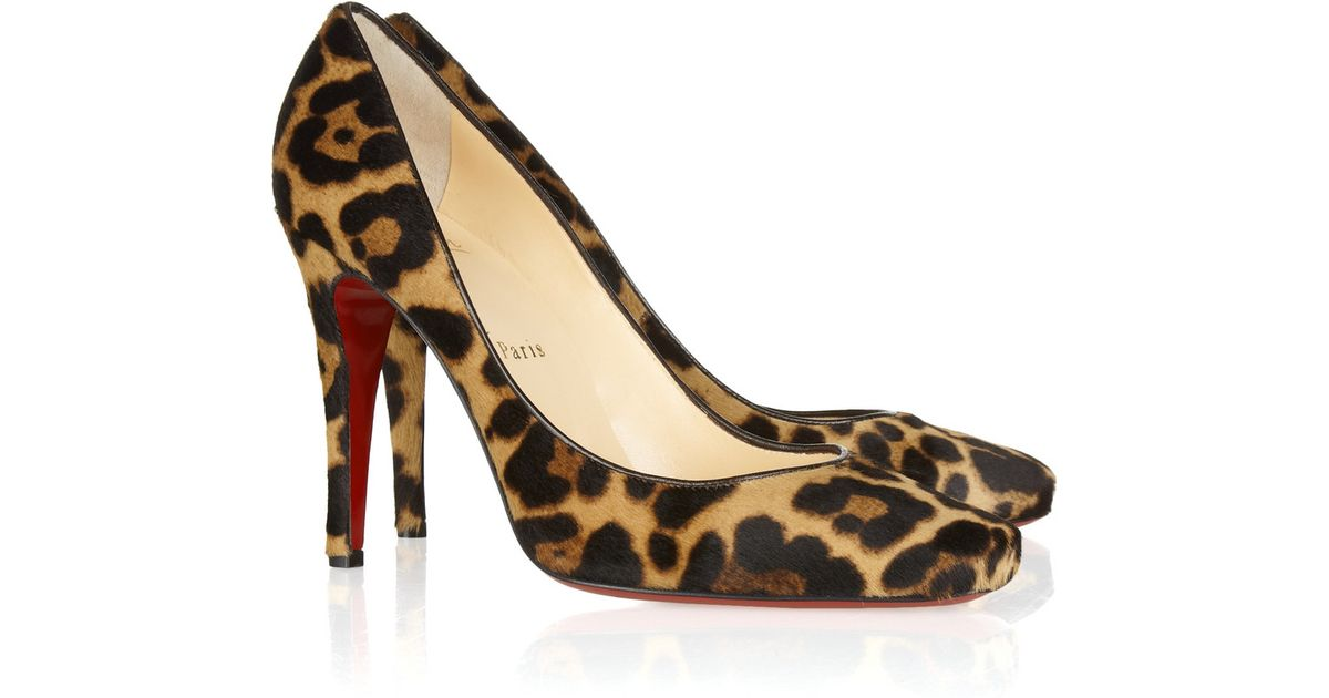 Christian louboutin Particule 100 Leopard-Print Calf Hair Pumps in ...