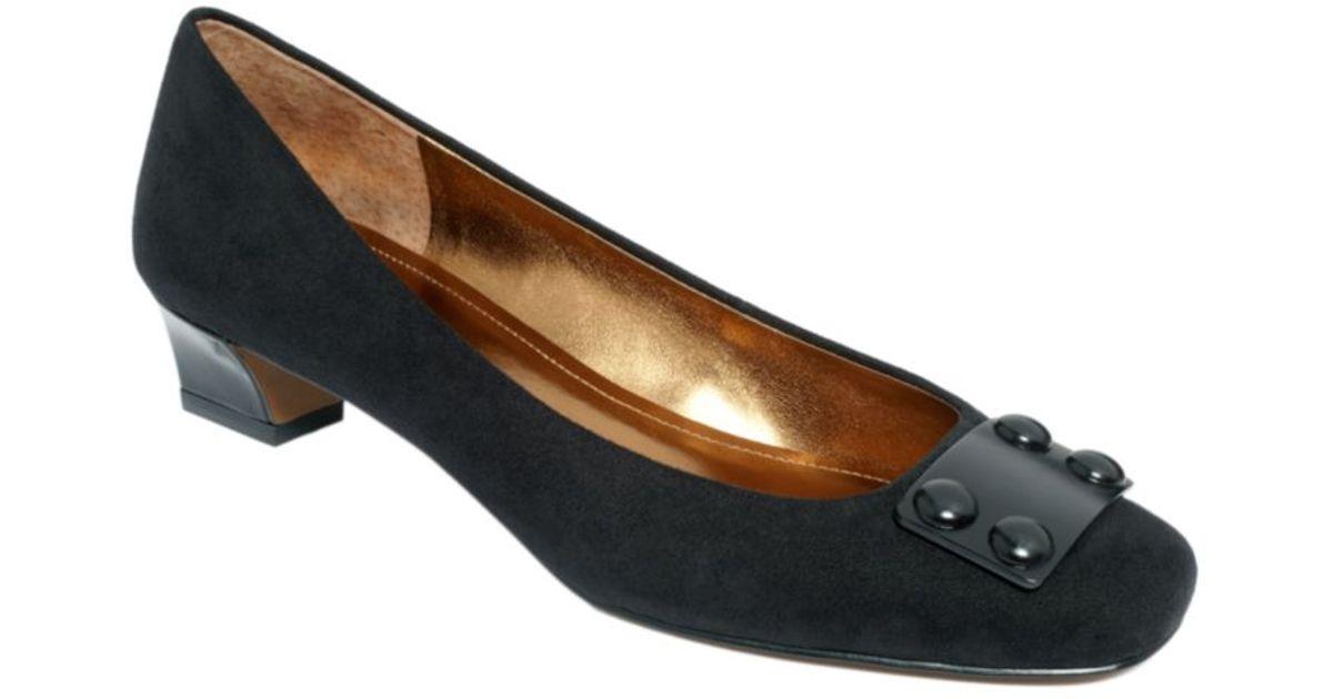 cfb033c098f Lyst - Ellen Tracy Valor Mid Heel Pumps in Black