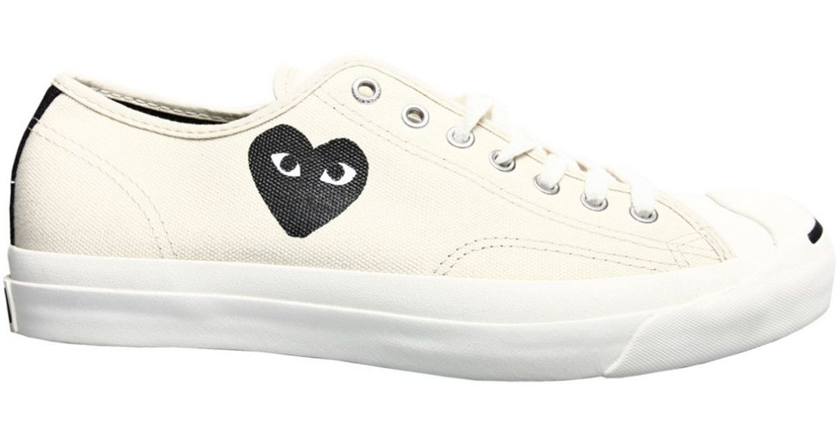 42ea8e337da Comme des Garçons Play Jack Purcell Converse White with Black Heart in  White for Men - Lyst