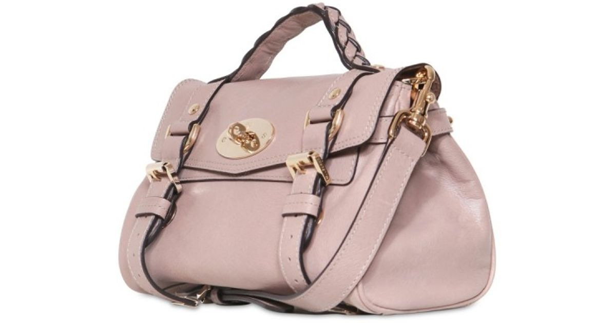 a167a8aa17 Mulberry Mini Alexa Fur Print Soft Leather Bag in Pink - Lyst