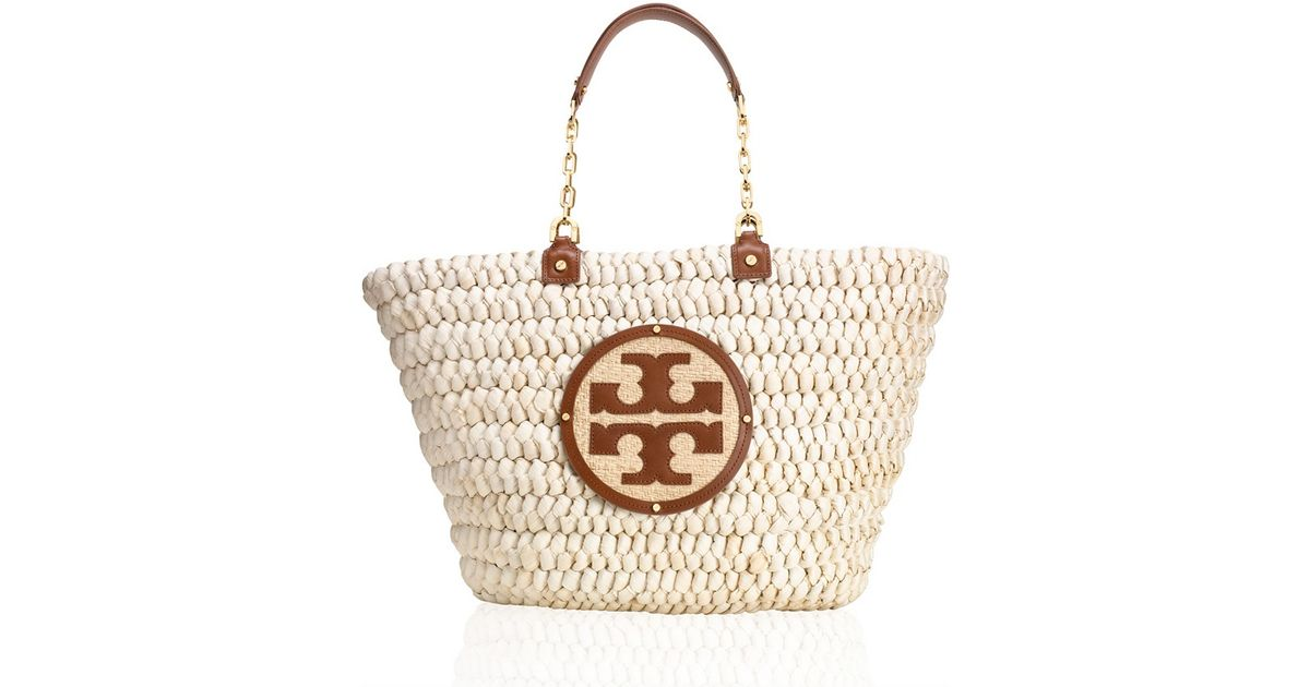 32cac6f5732 Lyst - Tory Burch Small Audrey Tote in Natural
