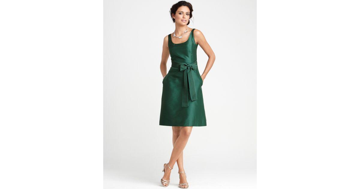 Ann Taylor Wedding Gowns: Ann Taylor Silk Dupioni Scoop Neck Bridesmaid Dress In