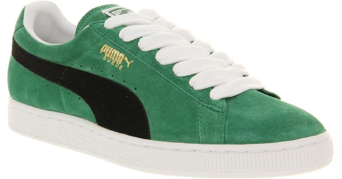 puma suede classic green 0452a1652