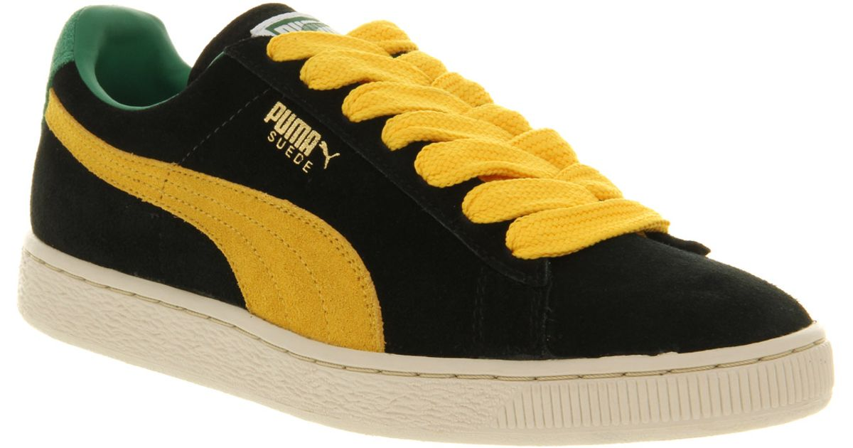 69cb26c1207d Lyst - PUMA Suede Classic Black yellow in Black for Men