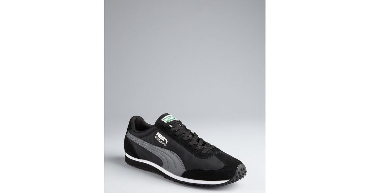 4a6b6ed4807bfd Puma Black and Grey Nylon Whirlwind Classic Striped Sneakers in Black for  Men - Lyst