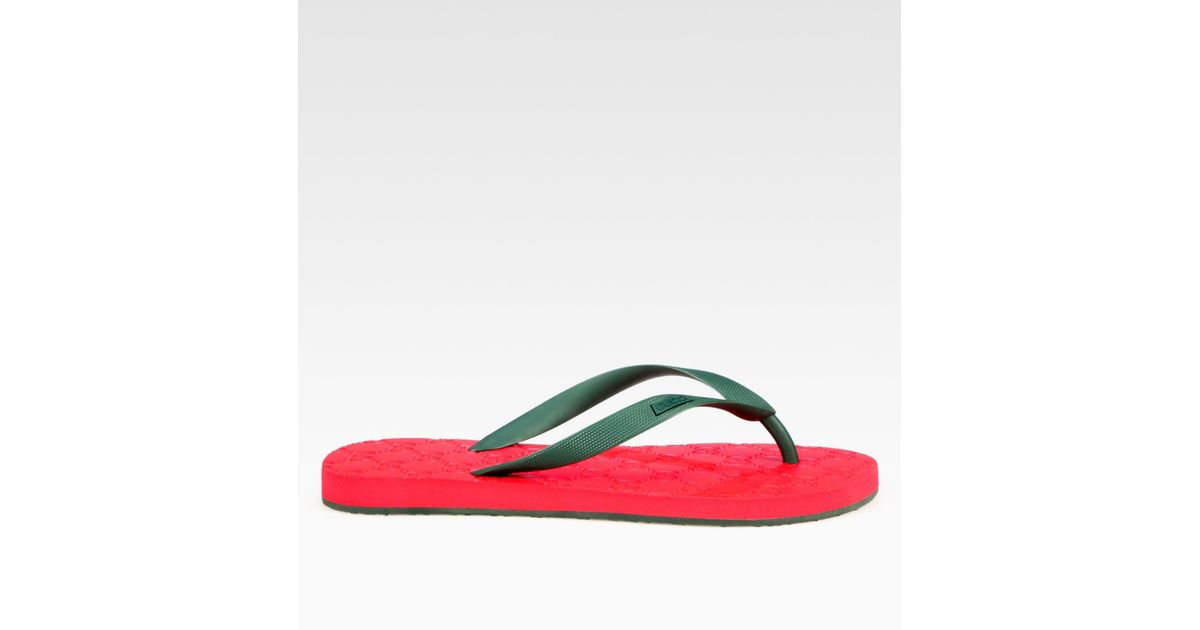 0afb0642eaa0c Lyst - Gucci Bedlam Logo Thong Sandal in Green for Men