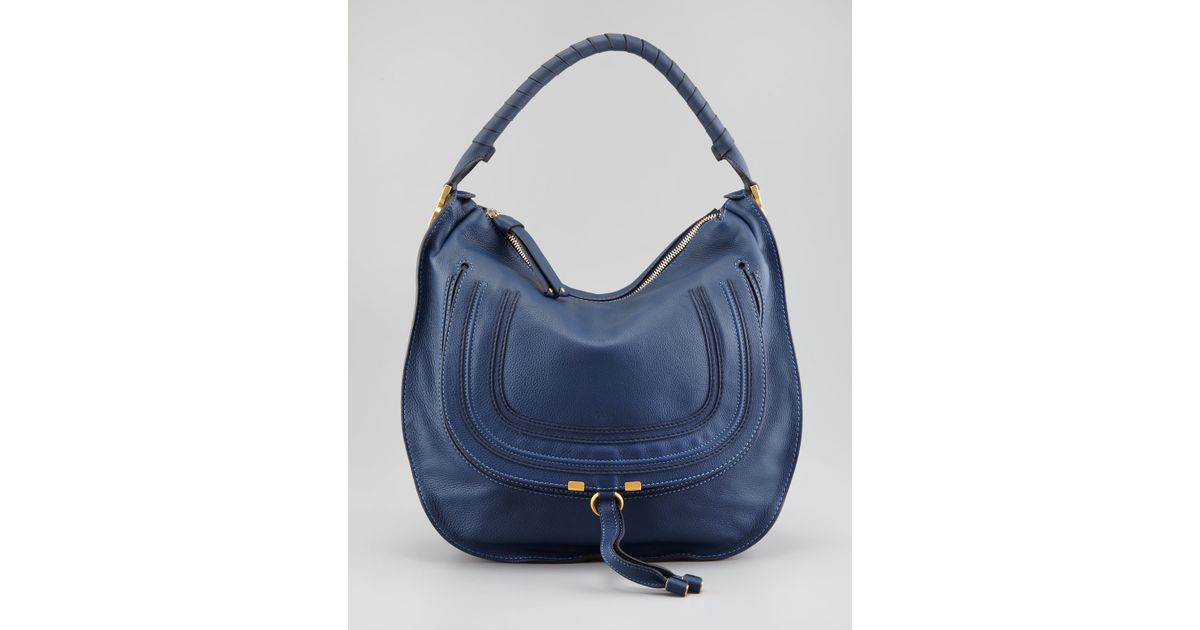 Chlo¨¦ Marcie Large Hobo in Blue (770royal) | Lyst