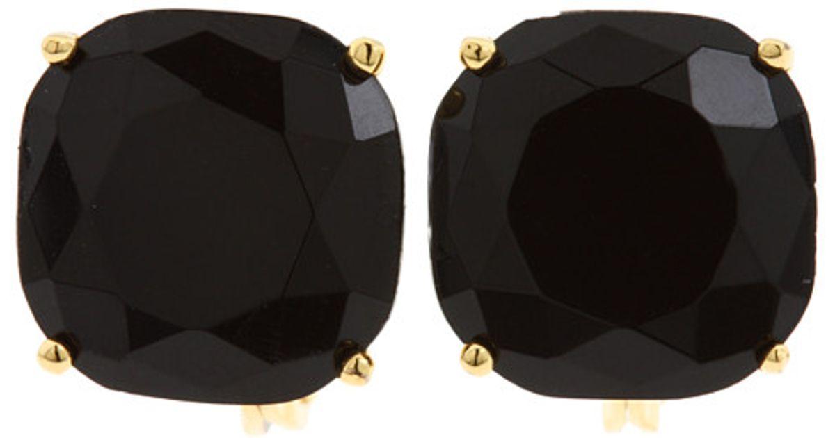 Lyst Kate Spade New York Kate Spade Small Clip Earrings In Black