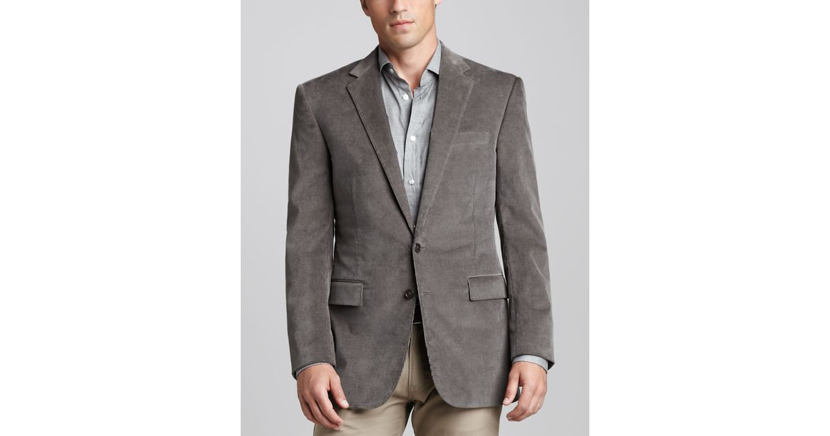 Ralph lauren black label Corduroy Sport Coat in Gray for Men | Lyst
