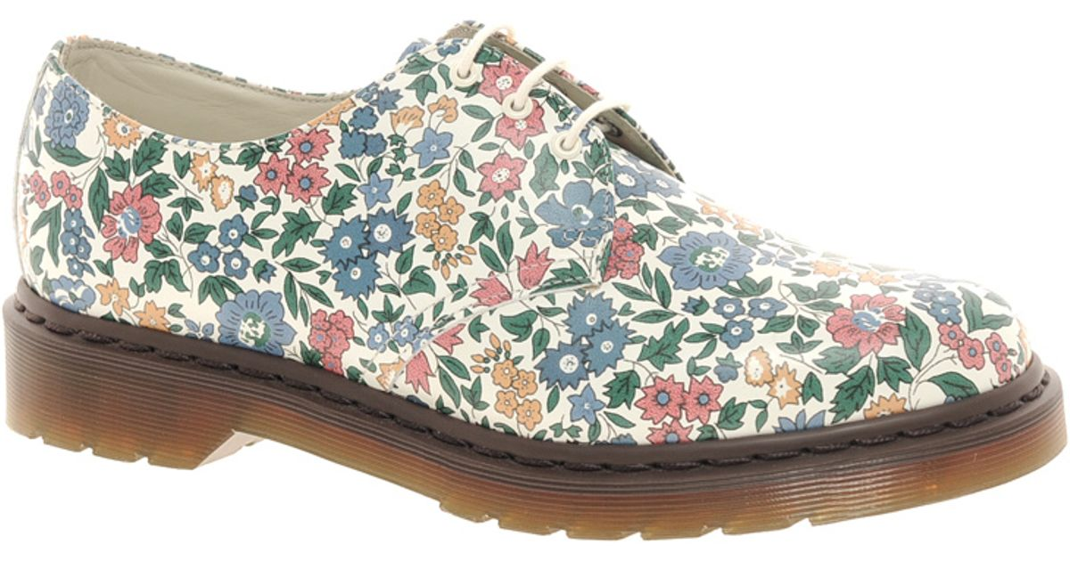 Lyst - Dr. Martens Liberty London Floral Print 3 Eye Shoes d80bf9d22fd1