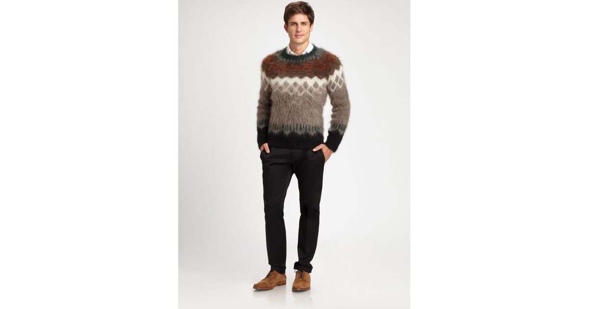 Dsquared² Fair Isle Sweater for Men | Lyst