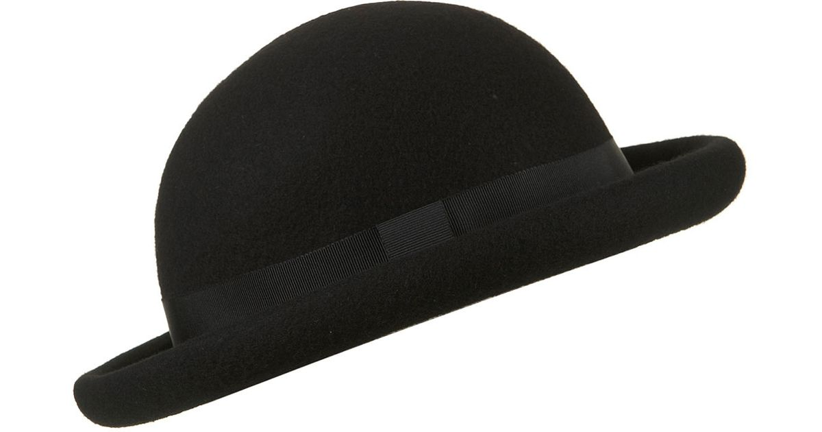 d3b3a0fc82a85 TOPSHOP Roller Bowler Hat in Black - Lyst