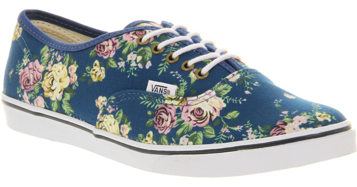 414b5b853aaf43 Lyst - Vans Authentic Lo Pro Floral Blue True White in Blue for Men