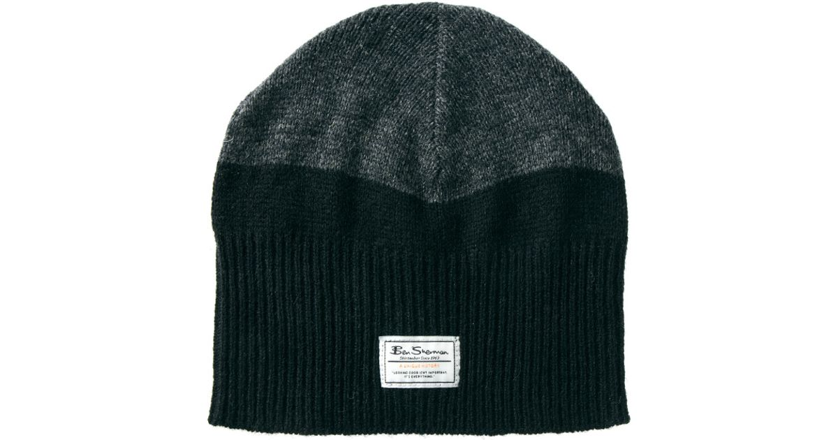 8e8b1467baa Lyst - Ben Sherman Knitted Beanie in Black for Men
