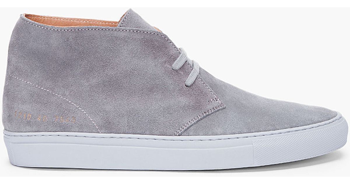 Common Projects Grey Suede Fontesi High-Top Sneakers csxrBAd