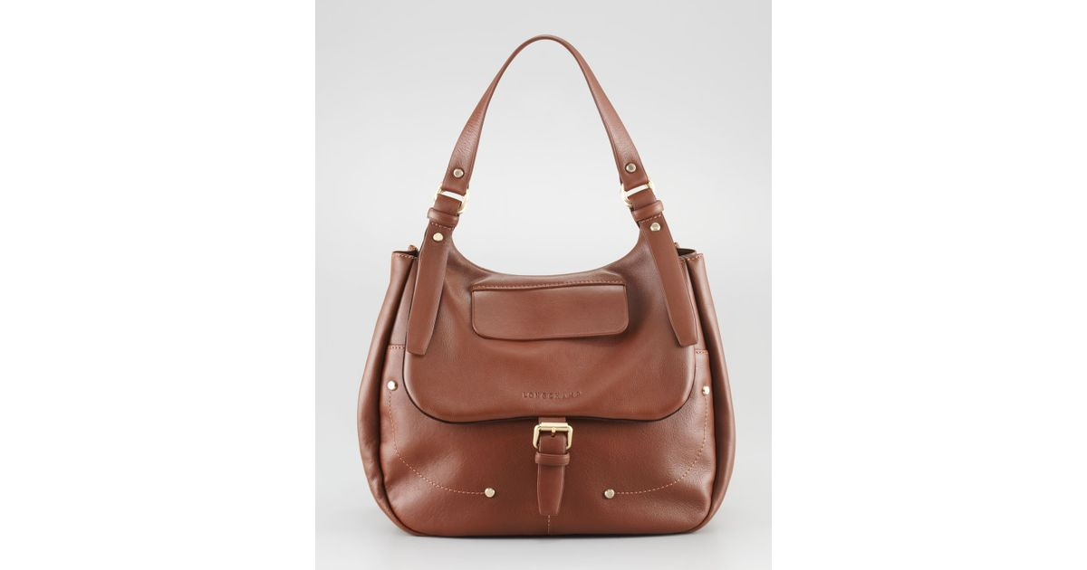 46efa7a1f3a Lyst - Longchamp Balzane Hobo in Brown