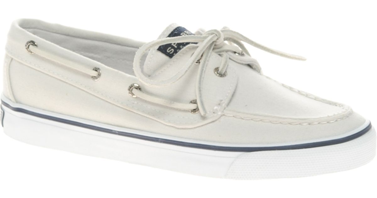 Sperry BAHAMA BOAT WASHED - Boat shoes - white z6mEe5y