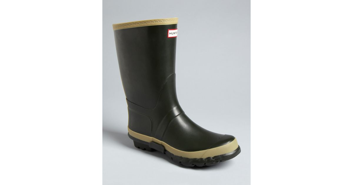 Hunter Garden Rain Boots in Green for Men Lyst