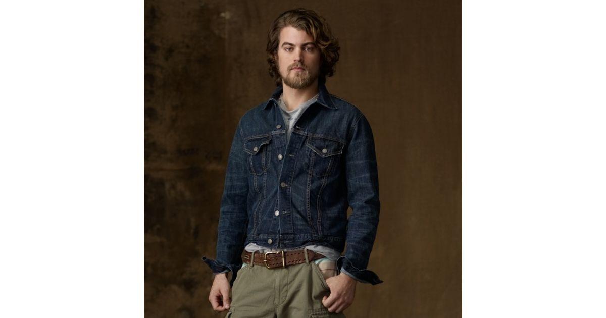 Lyst - Ralph Lauren Dark Wash Denim Jacket in Blue for Men 06b53b718