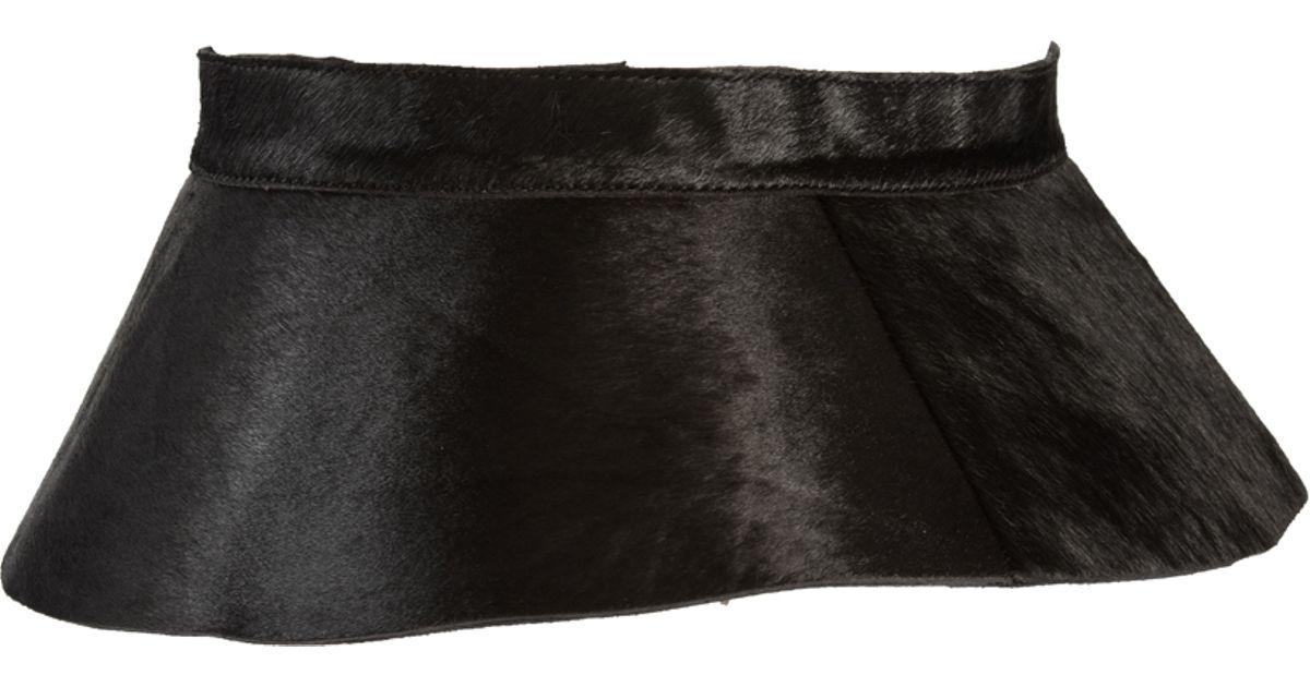 asos leather peplum skirt waist belt in black lyst