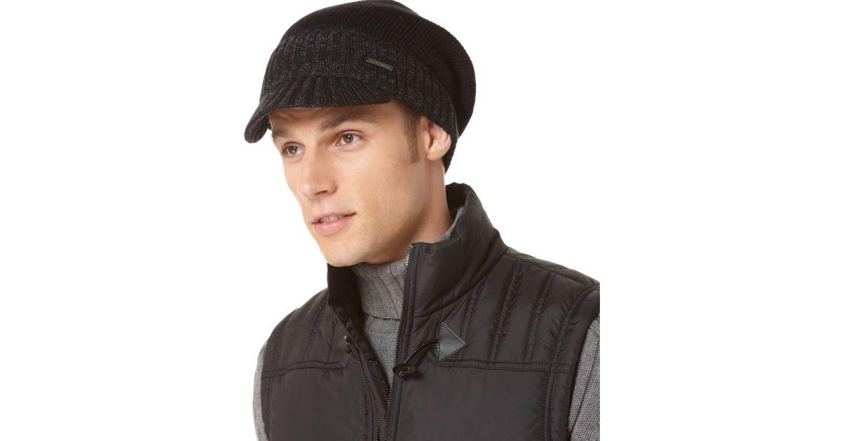de1cdcd4 Lyst - Calvin Klein Railroad Rib Radar Cap in Black for Men