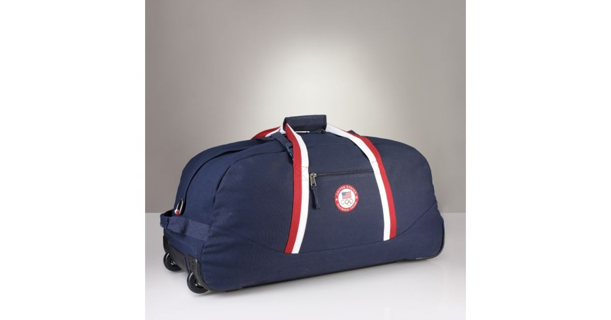 529a0ae701 Lyst - Polo Ralph Lauren Team Usa Rolling Duffle in Blue