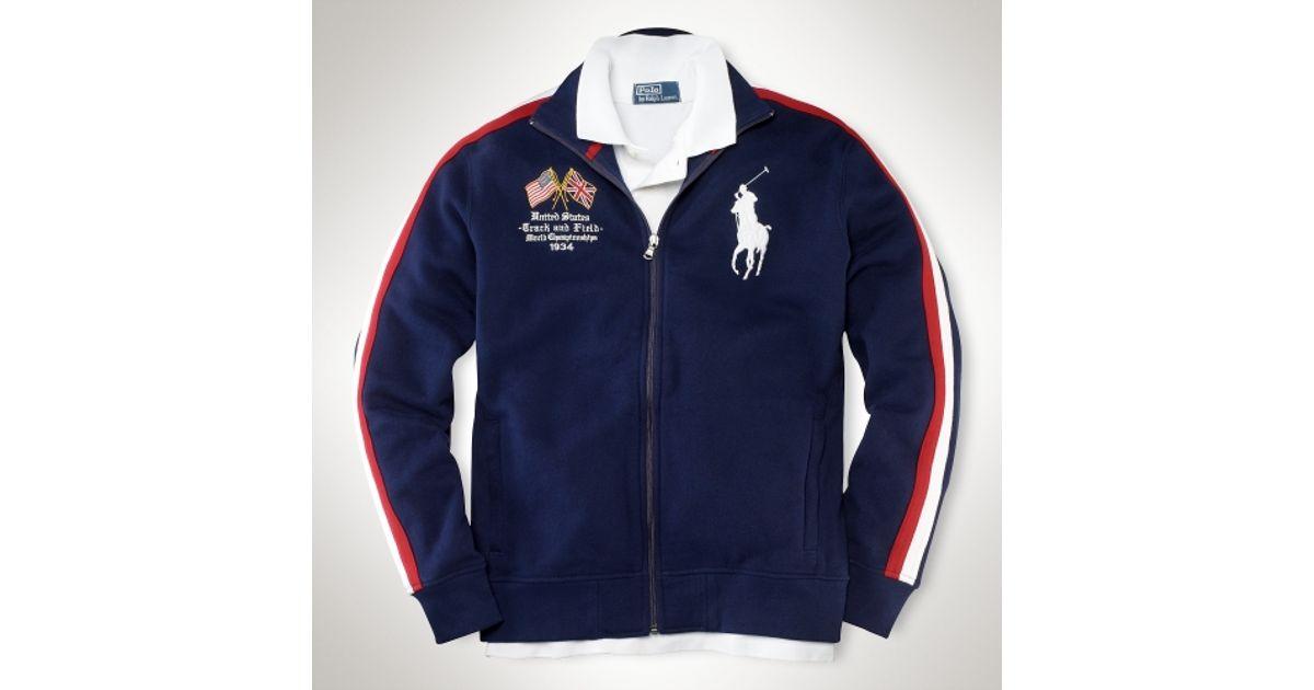 Newest Ralph Lauren Big Pony USA  Symbol Flag Navy Sporty Polo
