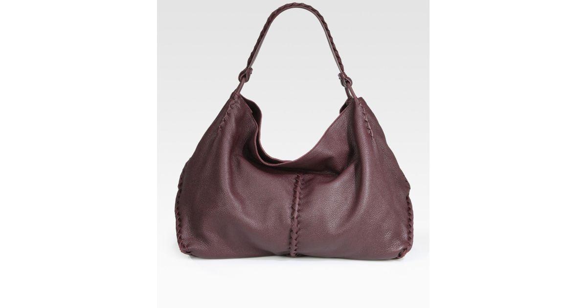 Lyst - Bottega Veneta Cervo Large Shoulder Bag in Purple b379d46acaf37