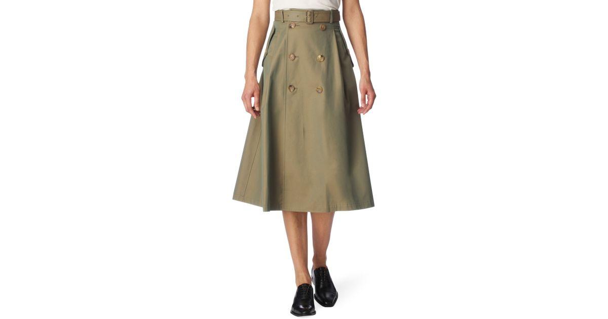 7556edcf19 Junya Watanabe Trench Skirt in Natural - Lyst
