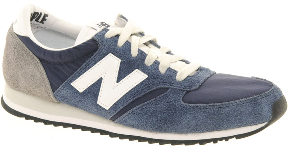 new product 7bb0d ea137 New Balance 420 Navy Vintage Trainers in Blue - Lyst