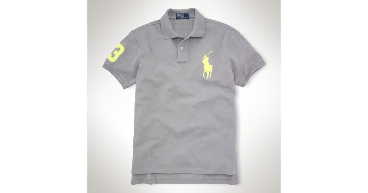 0142f6ce54d Lyst - Polo Ralph Lauren Custom Fit Neon Pop Big Pony in Gray for Men