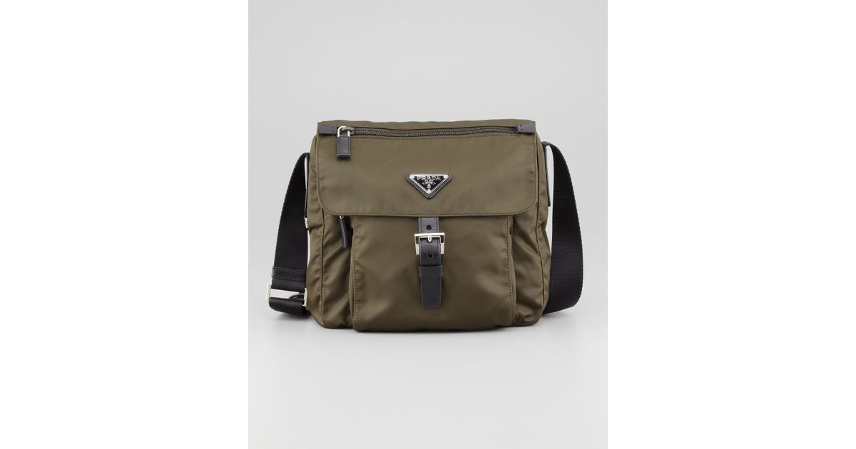 imitation prada handbag - Prada Vela Nylon Messenger Bag Olive in Brown (olive) | Lyst