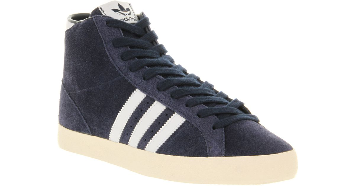 separation shoes dffe9 dce69 Lyst - Adidas Basket Profi Dk Indigo Ecru Wht in Blue for Me