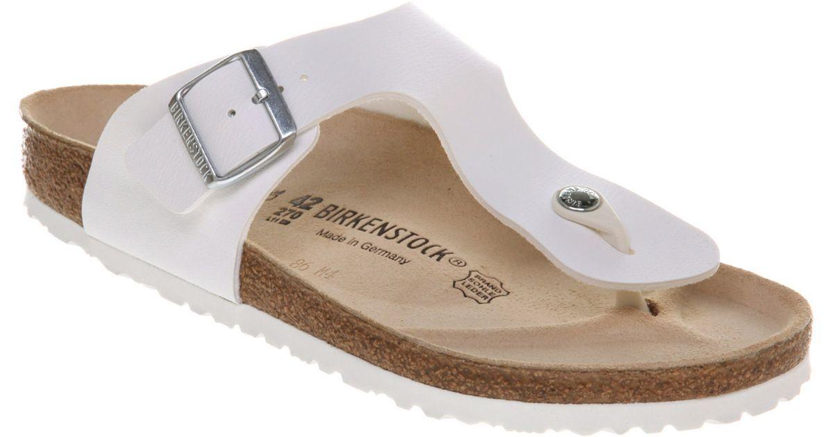ec7dbb83ea62 Lyst - Birkenstock Ramses Thong Sandal White Rubber in White for Men