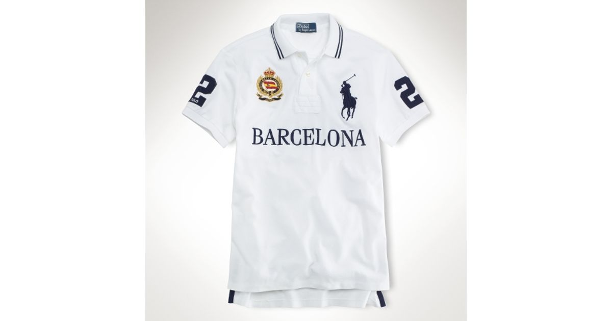 10e02e12 ... wholesale canada lyst polo ralph lauren customfit big pony city polo in  white for men a2e68