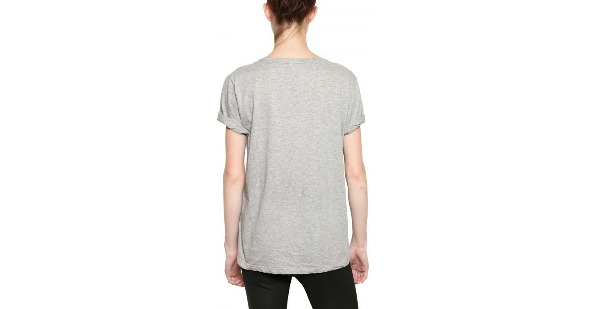 ede37f512aae33 Lyst - Burberry Prorsum Bird Print Cotton Jersey T-Shirt in Gray