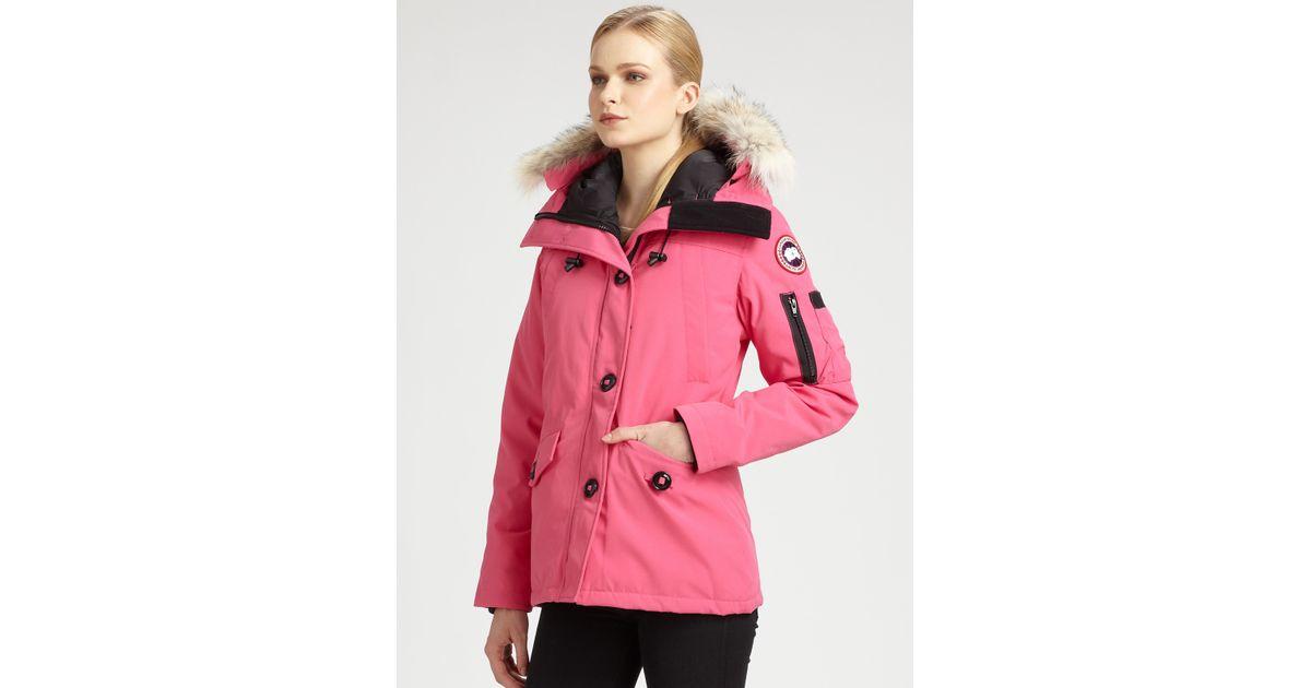 3538fdeced2 Canada Goose Montebello Parka in Pink - Lyst